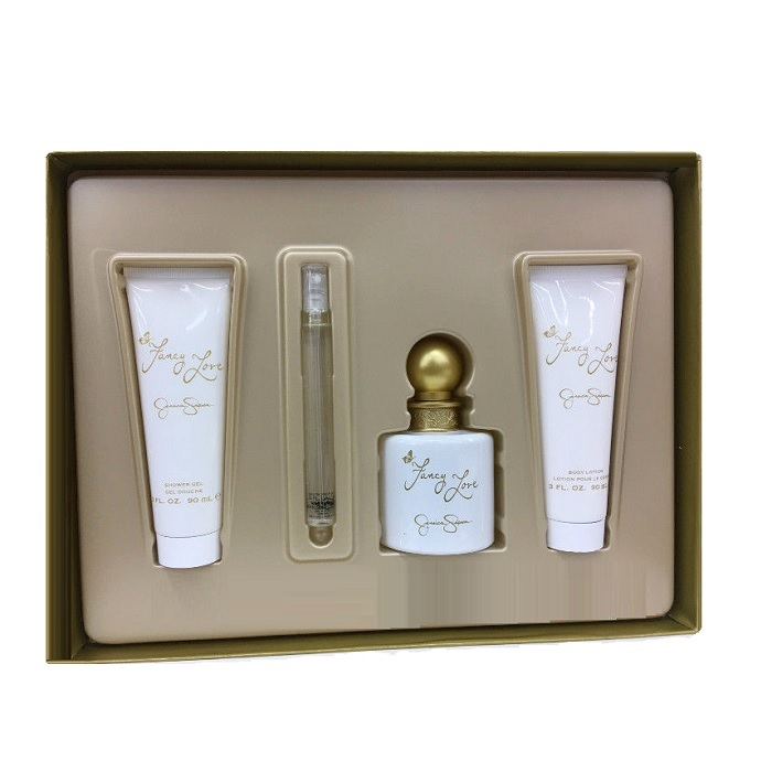 Fancy Love Perfume Gift Sets for women - 3.4oz Eau De Parfum, 3.0oz Body Lotion, 3.0oz Shower Gel, & 0.34oz EDP spray